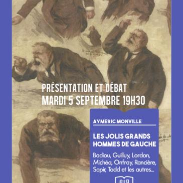 présentation Les Jolis Grands Hommes de gauche