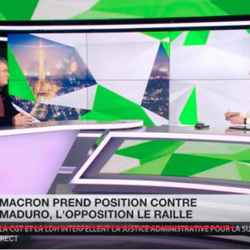 Aymeric Monville sur RT FRANCE en soutien au Venezuela bolivarien